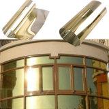 Film d'or en verre teinté par guichet à sens unique r3fléchissant de construction de visibilité