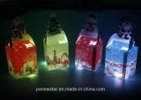 La víspera de Navidad papel de la moda Apple Caja de regalo con luz LED