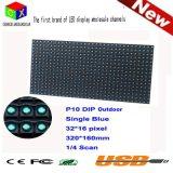 P10 scelgono il pixel esterno blu 32*16 della prova IP65 320mm*160mm dell'acqua del comitato del LED