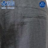 회색 모시 느슨한 단추 지퍼는 닫히 바닥 매일 바지를 Pockets