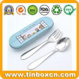 食事用器具類セットのためのテーブルウェアディナー・ウェアの金属の錫ボックス