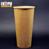 бумажный стаканчик кофеего 22oz Kraft с крышкой