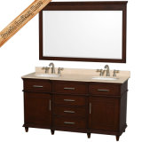 単一の流しの大理石の浴室の虚栄心の過渡的な最上質の浴室のキャビネット