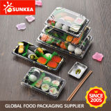 Wegwerfplastiksushi-verpackenbehälter-Kasten mit freier Kappe