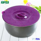 De middelgrote FDA Deksels Tapa Succion van het Voedsel van de Zuiging van het Silicone voor Koppen, Kommen, Pannen of Containers