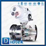 Acier inoxydable de Didtek 316 robinets à tournant sphérique électriques de flottement