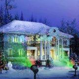 Rotes und grünes Licht-Garten-Baum und im Freienwand-Dekoration-Stern-Laserlichte für Feiertags-Beleuchtung