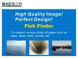 Buscador de peixes da câmera de pesca submersa de 60 metros com câmera de rotação de 360 graus