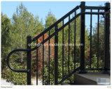 Trilhos da escada do ferro feito do estilo/corrimão bonitos do metal com trilhos