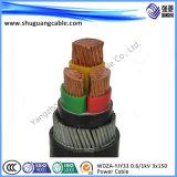 Cabo distribuidor de corrente blindado livre de fio de aço do baixo halogênio do fumo