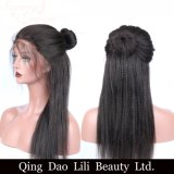 Pelucas rectas italianas del pelo humano del frente del cordón de Yaki para las mujeres negras pre desplumadas con el pelo del bebé