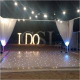 Decoración de la boda LED iluminado por las estrellas Pista de baile blanco de ensue?