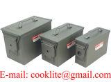 Boite de municiones Rangement Metallique / Caisse Militaire de munición / Caja de herramientas