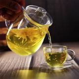 Jarra de agua cristal aislante, resistente al calor de limón Cristal tetera, cafetera, tetera