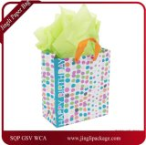 Sac de cadeau d'anniversaire, sac de cadeau, sac de papier de cadeau, sac de papier d'emballage, sac de papier