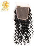 I capelli umani 100% del Virgin 4*4 liberano la chiusura del merletto della parte (LC-1)