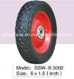 10X3.3 Inch Semi neumático de goma de la rueda