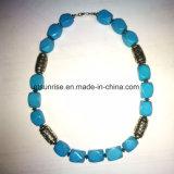 Pedra semipreciosa de cristal natural turquesa Beaded Necklace Jewelry Sets