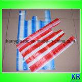 Sacs de porte-manteau HDPE avec rayure colorée