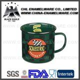 La SGS certifiés 16oz émail personnalisé tasse avec l'autocollant de l'impression