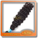 Weave Curly do cabelo brasileiro de um doador