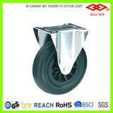 wiel van de Gietmachine van de Bak van het Huisvuil van 200mm het Zwarte Rubber (D101-31C200X50)