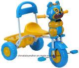 後部席が付いている子供の三輪車