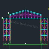 Светлое Prefab здание пакгауза стальной структуры для укрытия Айркрафт