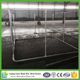 La ruggine ha protetto la gabbia poco costosa galvanizzata del cane del cane del commercio all'ingrosso d'acciaio della gabbia