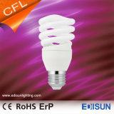 Lâmpadas leves espirais meio cheias energy-saving do T2 9W 11W 15W 20W E27 CFL