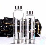 Alta tazza portatile esterna variopinta di vetro del regalo dell'acqua di corsa del Borosilicate 550ml