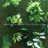 装飾のための安い人工的な総合的なプラスチック緑のコケの草の壁