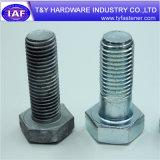 Boulon hexagonal de force à haute résistance galvanisée blanche pour l'industrie de dispositifs de fixation