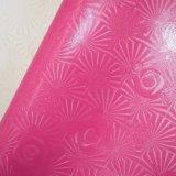Couro artificial Textured da decoração do falso do plutônio da flor de Rosa para sapatas