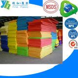 Gelber blauer rosaroter PET Schaumgummi-Blatt EVA-Block
