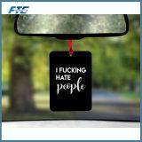 Ambientador de aire de papel de encargo del olor del coche de la venta al por mayor del ambientador de aire del coche