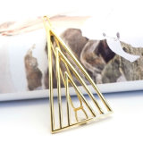 Acessórios chapeados ouro do cabelo dos gancho de cabelo do triângulo da jóia da forma