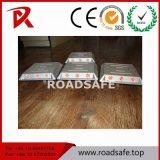 Roadsafe 21/28 goujon en aluminium de route de route de plot réflectorisé de talons en verre de goujon de borne r3fléchissante en aluminium de route