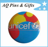 precio de fábrica el logotipo de promoción de la impresión personalizada Deportes Unicef Pin como botón de lata para regalos promocionales (botón badge-18)