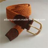 金カラー丈夫なバックルベルト、伸縮性があるポリエステル編みこみのベルト
