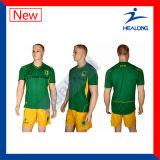 Healong a personnalisé le football Jersey de sublimation pour le club d'équipe