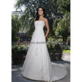 Une ligne bustier robe de mariage (WD1240)