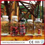 bouteille en verre en plastique carrée par 250ml pour l'eau de /Juice/ de boisson