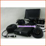 coche de grabación video de 4CH 720p DVR para la seguridad del omnibus