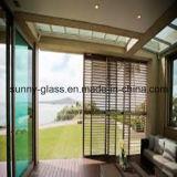 lumbrera de 6m m/vidrio de cristal claros/de bronce de la lumbrera para la ventana