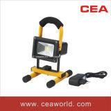 indicatore luminoso di inondazione ricaricabile di 10W LED con CE&RoHS