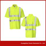 Chemises de polo fonctionnantes jaunes salut de réflecteur fait sur commande de force pour les hommes (P06)