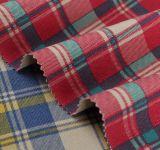 Tela de algodón teñida hilado