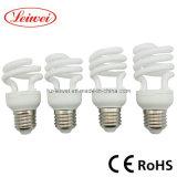 T2 7W, 9W, 11W, 15W половина спиральная энергосберегающая лампа