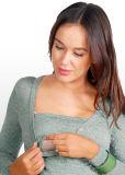 ミント緑のポルカドットの妊婦の上の衣類